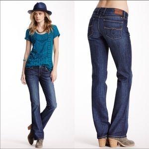 Lucky Brand Lolita Boot White Oak Dark Denim Jeans